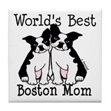 World's Best Boston Mom Tile Coaster