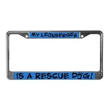 Rescue Dog Leonberger License Plate Frame