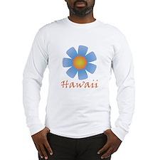 Hawaii (Blue Flower) Long Sleeve T-Shirt