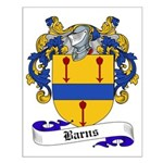 Barns Family Crest Small Poster