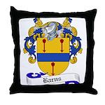 Barns Family Crest Throw Pillow