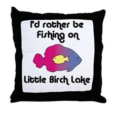 430 I'd Rather be Fishing Throw Pillow