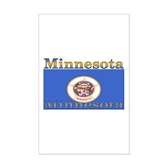 Minnesota State Flag Mini Poster Print