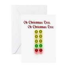 Drag Race Christmas Tree Greeting Card