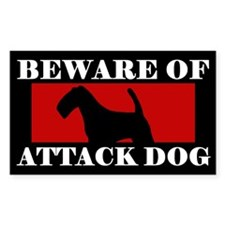 Beware of Attack Dog Lakeland Terrier Decal
