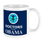 DOCTORS FOR OBAMA Dark Mug