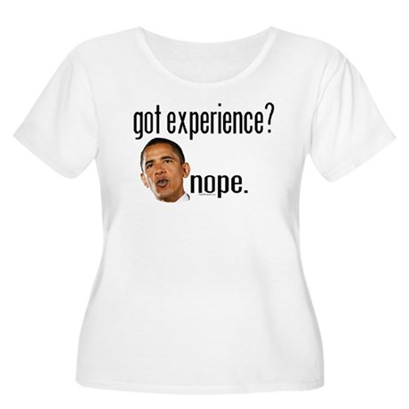 Barack Obama No Experience Women's Plus Size Scoop
