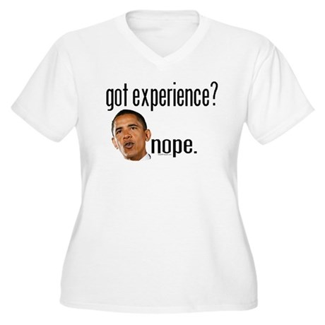 Barack Obama No Experience Women's Plus Size V-Nec