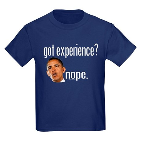 Barack Obama No Experience Kids Dark T-Shirt