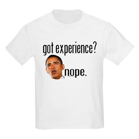 Barack Obama No Experience Kids Light T-Shirt