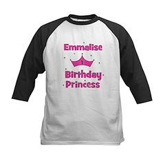 1st Birthday Princess Emmalis Kids Baseball Jersey