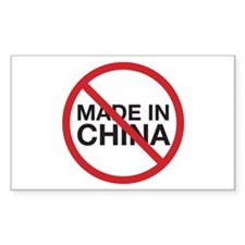 Not Made in China Rectangle Sticker 10 pk)