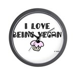 I love Being Vegan Clock