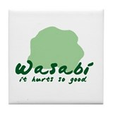 Wasabi shirt Tile Coaster