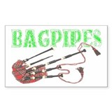 Bagpipes Rectangle Sticker 50 pk)
