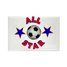 Soccer All Star Rectangle Magnet
