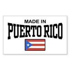 Made in Puerto Rico Rectangle Decal