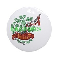 Bagpipes Ornament (Round)