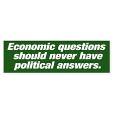 Economic questions Bumpersticker