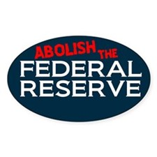 Abolish The Fed Oval Sticker (50 pk)