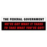Federal Government Bumper Bumper Sticker