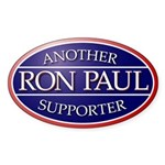Another Ron Paul Supporter Oval Sticker