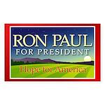 Ron Paul Hope Rectangle Sticker