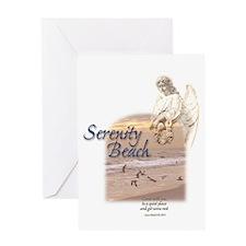 Serenity Beach Angel Greeting Card