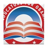 Educators for Obama Tile Coaster
