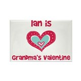 Ian Is Grandma's Valentine Rectangle Magnet
