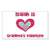 Isaiah Is Grandma's Valentine Rectangle Decal