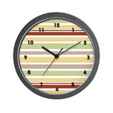 Coffee House Stripes Wall Clock