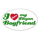 I love my Libyan Boyfriend Oval Decal