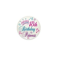 18th Birthday Princess Mini Button (100 pack)