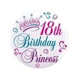 "18th Birthday Princess 3.5"" Button"