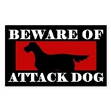 Beware of Attack Dog Gordon Setter Decal