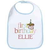 Ellie's First Birthday - Bib