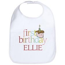 Ellie's First Birthday - Bib