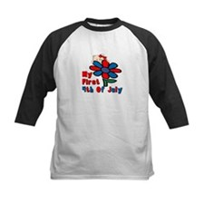 1st 4th of July Flower/baby Tee