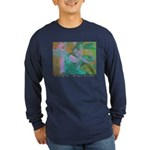 Tuscan Garden Long Sleeve Dark T-Shirt