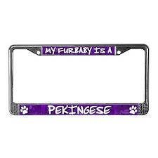 Furbaby Pekingese License Plate Frame