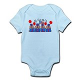 1st 4th of July BEARS Infant Bodysuit