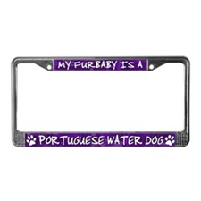 Furbaby Portuguese Water Dog License Plate Frame