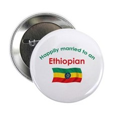 """Happily Married Ethiopian 2.25"""" Button"""