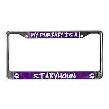 Furbaby Stabyhoun License Plate Frame