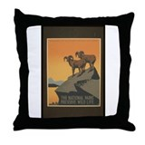 The National Parks Preserve W Throw Pillow