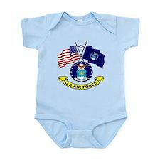 USAF-USA Flags Infant Bodysuit