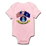 USAF-USA Flags Onesie