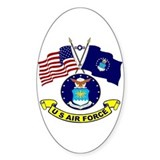 USAF-USA Flags Oval Decal