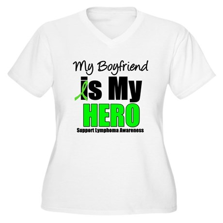 Lymphoma Hero (Boyfriend) Women's Plus Size V-Neck